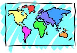 Continent clipart world atlas