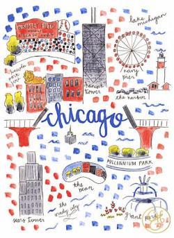Drawn map chicago