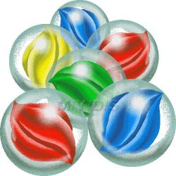 Marbles clipart