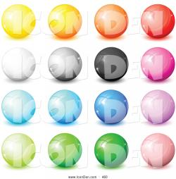 Marbles clipart button