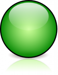 Marbles clipart green