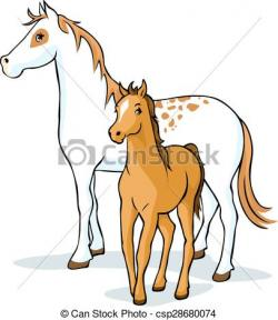 Foal clipart simple horse
