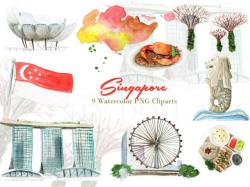 Marina Bay Sands clipart merlion
