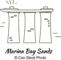 Marina Bay Sands clipart singaporean