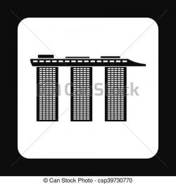 Marina Bay Sands clipart symbol