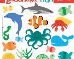 Marine Life clipart aquatic animal