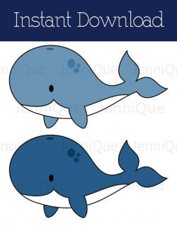 Seafood clipart baby shower whale