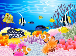 The Sea clipart coral reef fish