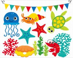 The Sea clipart ocean theme