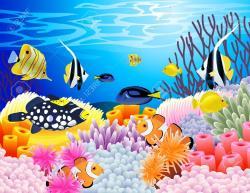 Sea Anemone clipart underwate animal