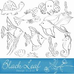 Marine Life clipart sea drawing