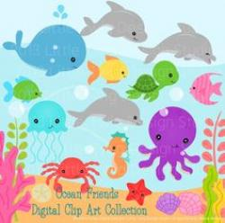Marine Life clipart under sea
