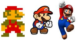 Mario clipart pixelated