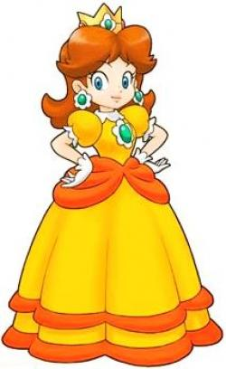 Mario clipart princess daisy
