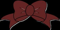 Maroon clipart bow