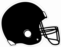 Silver clipart football helmet