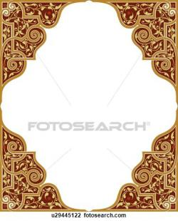 Maroon clipart frame
