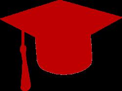 Maroon clipart graduation cap