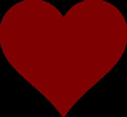 Maroon clipart heart