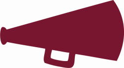 Maroon clipart megaphone