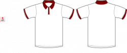Maroon clipart polo shirt