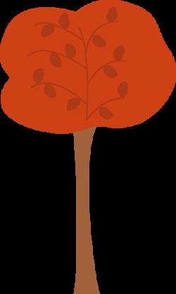 Maroon clipart tree