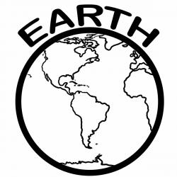 Planet Earth clipart black and white