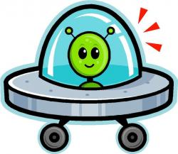 Spaceship clipart crashed
