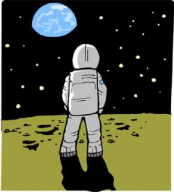 Spacesuit clipart man on moon