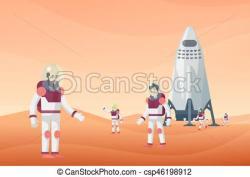 Mars clipart space exploration