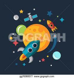Mars clipart space rocket