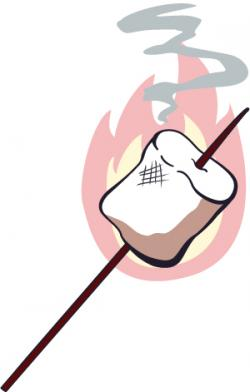 Campire clipart roasted marshmallow