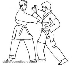 Martial Arts clipart black and white