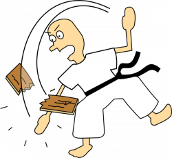 Martial Arts clipart karate chop