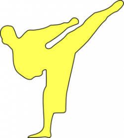 Martial Arts clipart kicker
