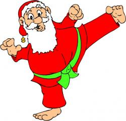 Martial Arts clipart santa