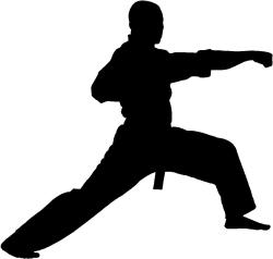 Martial Arts clipart silhouette