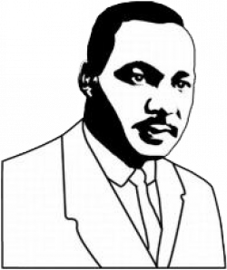 Martin Luther King Clipart Black And White
