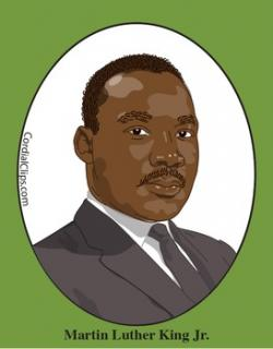 Martin Luther King clipart Martin Luther King In Color