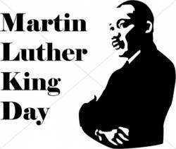 Martin Luther King clipart Martin Luther King Jr Silhouette Printable