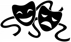 Theatre clipart black and white