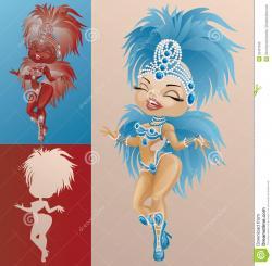 Brazil clipart carnival costume