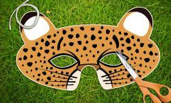 Masks clipart cheetah