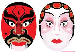 Masks clipart chinese opera