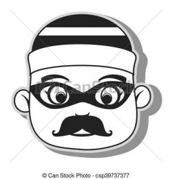 Mask clipart criminal