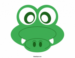 Masks clipart crocodile