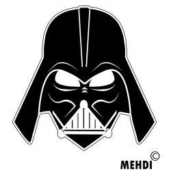 Darth Vader clipart sketch