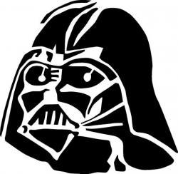 Darth Vader clipart pumpkin stencil