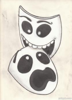 Drawn masks love