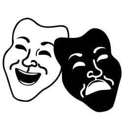 Broadway clipart drama faces
